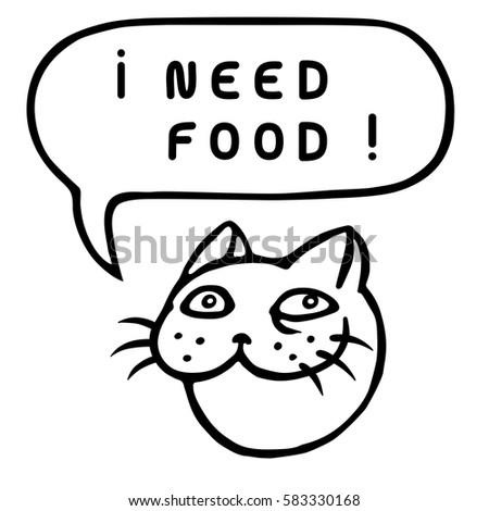 i need food  funny tom cat head