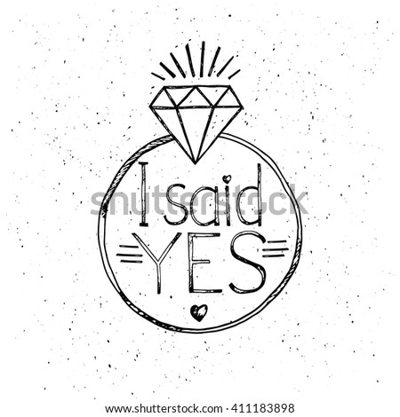 Vector Images, Illustrations and Cliparts: I said yes ...
