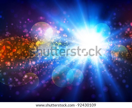I see the light, vector - stock vector