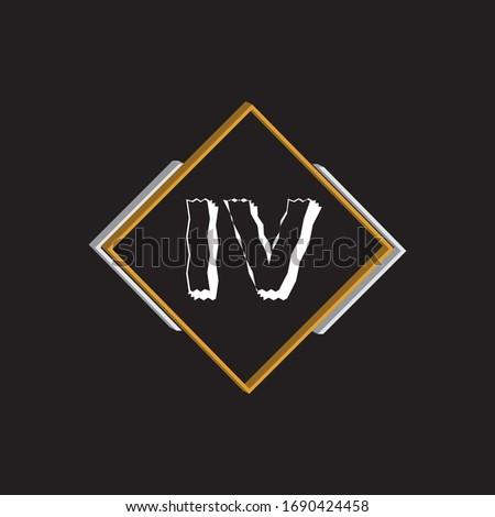 i v letter logo vector design