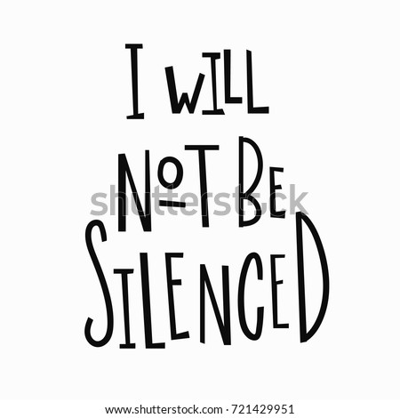 i will not be silenced t shirt