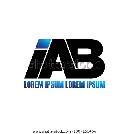 IAB letter monogram logo design vector