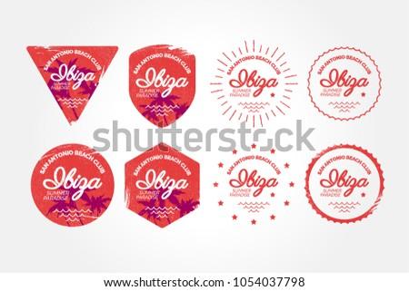 ibiza summer badge  beach club