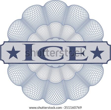 Ice abstract rosette