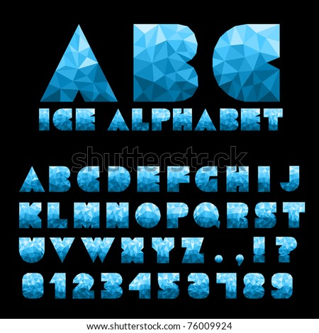 Ice Alphabet With Numbers