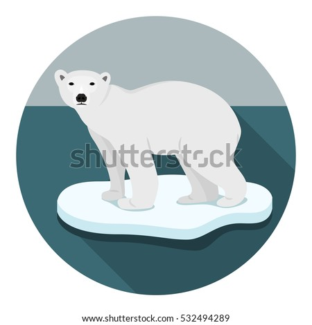 ice bear on floe climate change