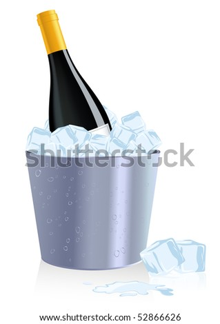 ice bottle  vector illustration