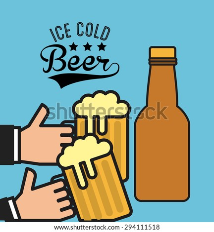 ice cold beer design  vector
