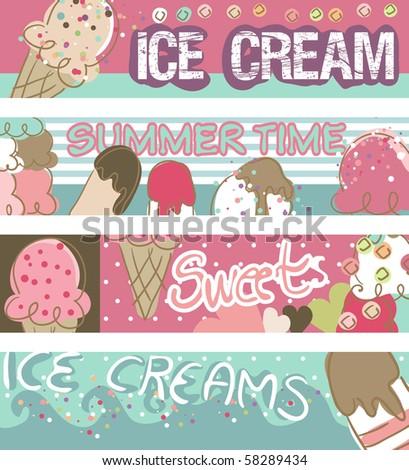 ice cream banners