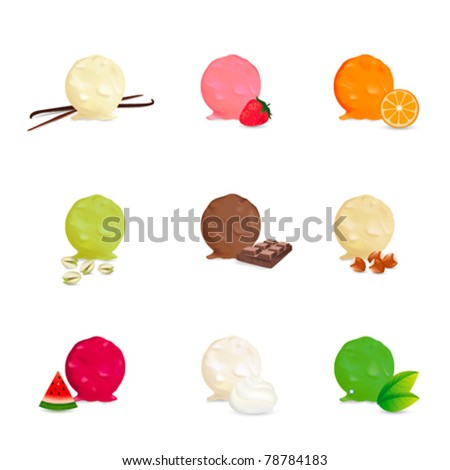 Ice cream collection - Many flavors