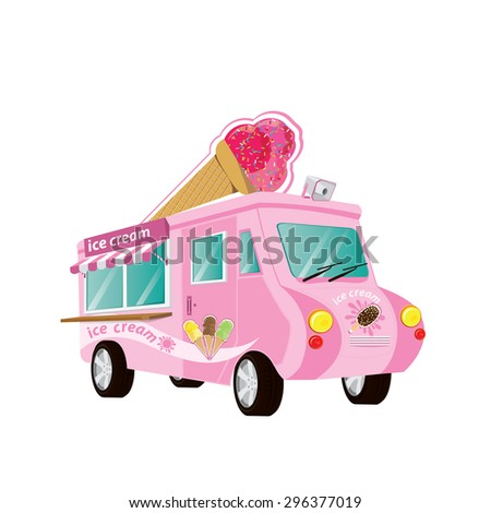 ice cream colorful  truck with