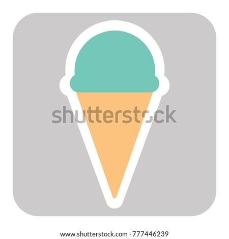 Ice cream cone vector icon isolated on background. Trendy sweet symbol. Logo