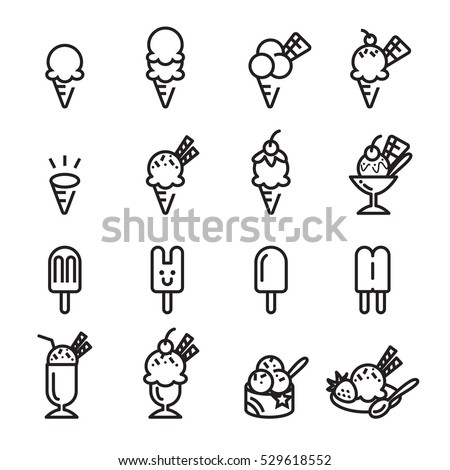 ice cream line icon