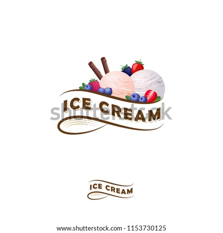 ice cream logo letters on a
