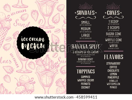 ice cream designs and labels download free vector art stock