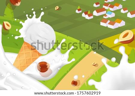 ice cream milk chocolate