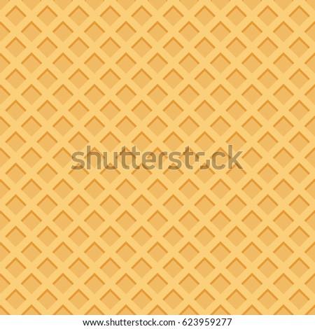 ice cream pattern waffle