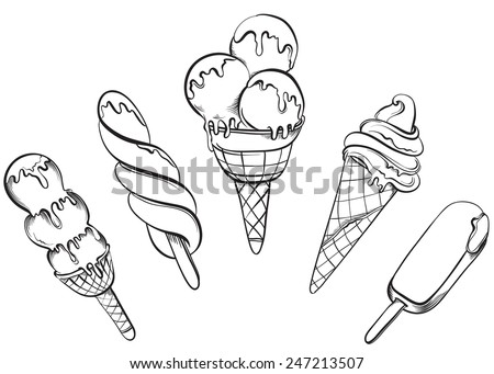 Free Hand Drawn Vector Ice Cream Illustration Download Free Vector
