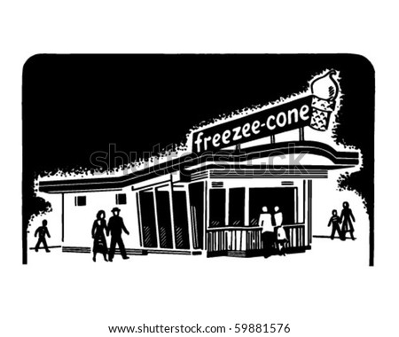 ice cream clipart. stock vector : Ice Cream Shop
