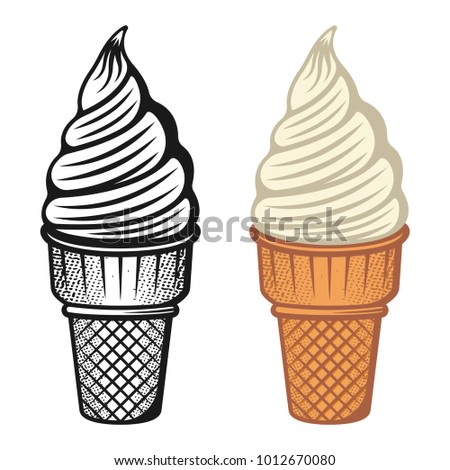 ice cream two style monochrome