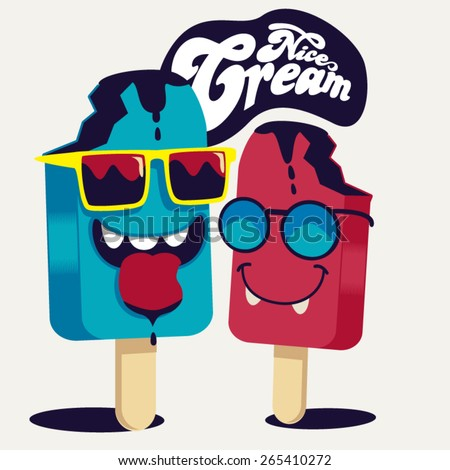 ice cream vecton character