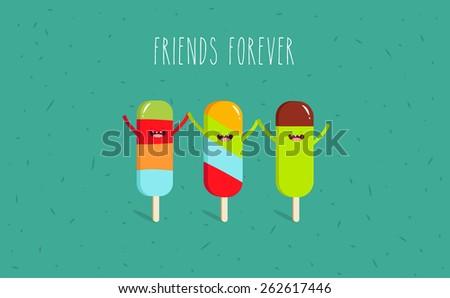 ice cream vector cartoon