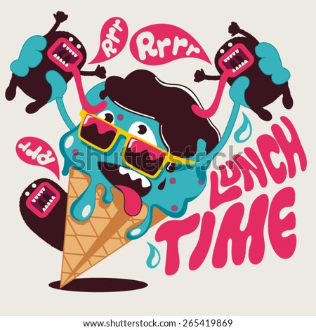 ice cream vector graphic design