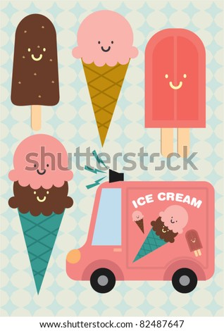 ice cream vector/illustration