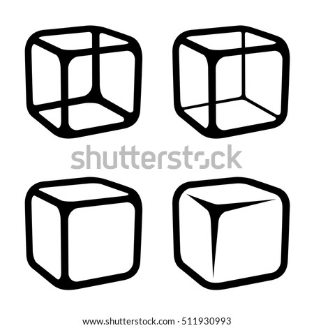 ice cube black symbols vector