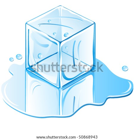 ice cube   illustration vector