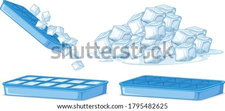 Ice cube on white background illustration Foto stock ©