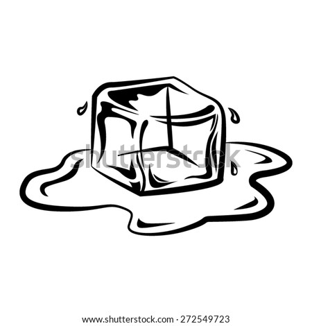 Ice Cubes Drawing Ice Cube Vector