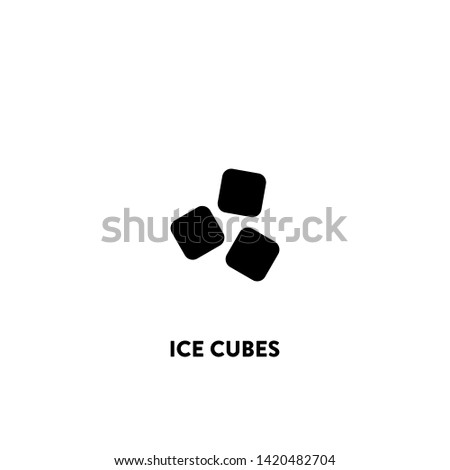 ice cubes icon vector. ice cubes sign on white background. ice cubes icon for web and app