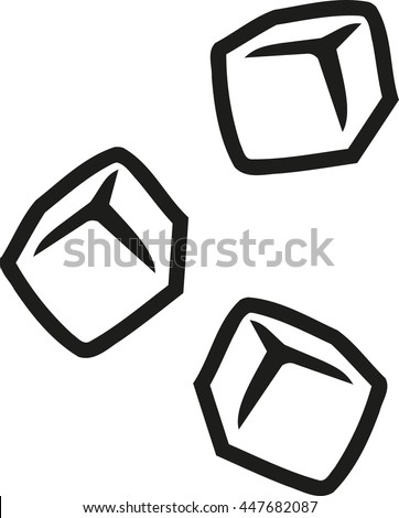 Ice cubes outline
