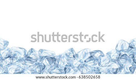 ice cubes  realistic set  3d