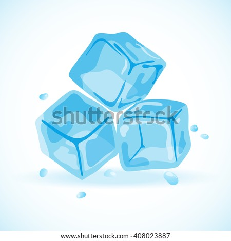 Ice cubes, vector illustration