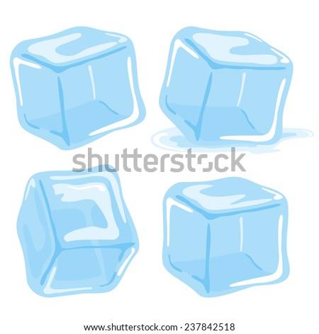 ice cubes vector illustration