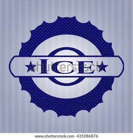 Ice denim background