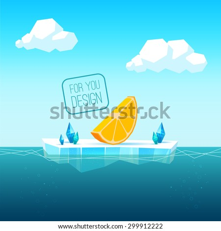 ice floe in the sea for the