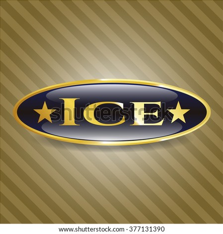 Ice gold emblem