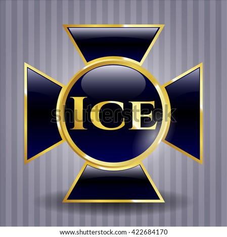 Ice gold shiny emblem