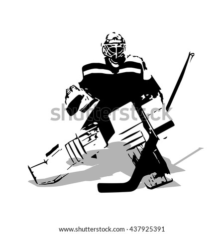 ice hockey goalie  abstract