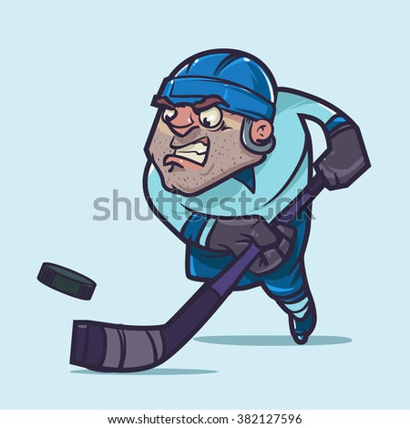 ice hockey player in blue form