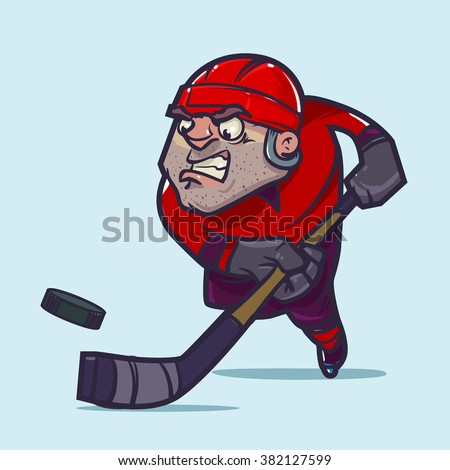 ice hockey player in red form