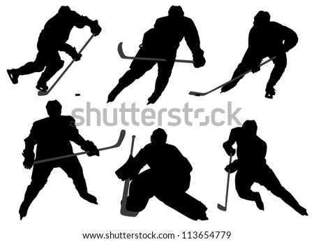 ice hockey player silhouette on