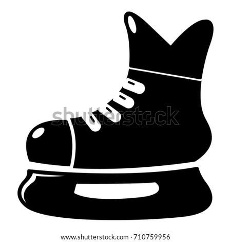 ice hockey skate icon  simple