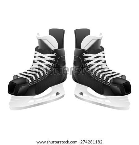 ice hockey skates  isolated on