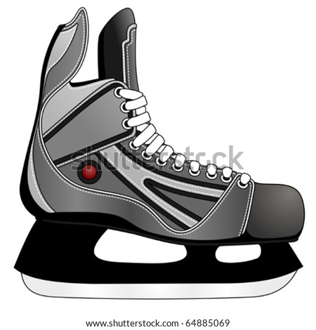 ice hockey skates vector 64885069 shutterstock. Black Bedroom Furniture Sets. Home Design Ideas