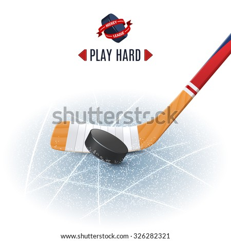 ice hockey sport poster with