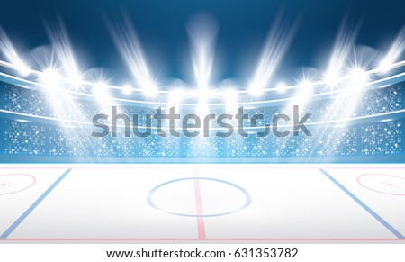 ice hockey stadium with